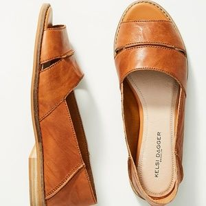 New $110 Anthropologie Kelsi Dagger Leather Flats